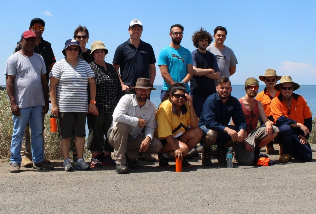 Shorebird training participants gathered together and smiling